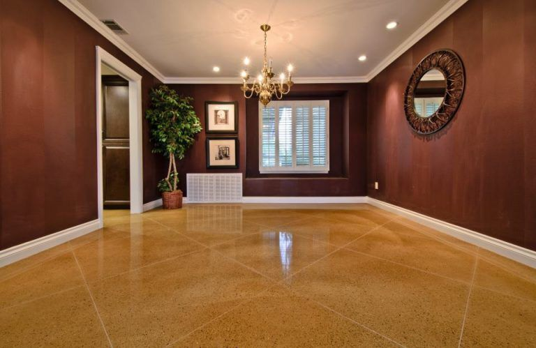 stained concrete interior floor in st louis