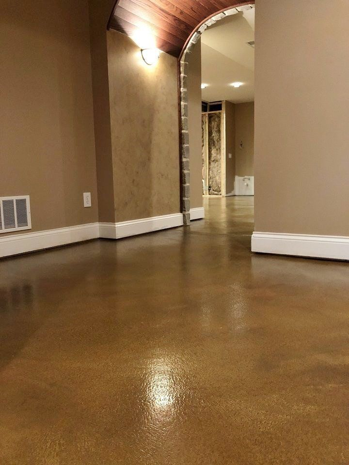 acid stain interior concrete floor