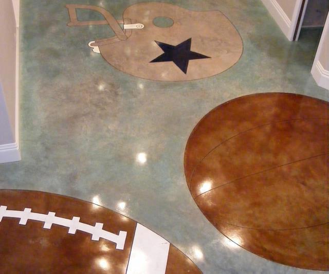 light colored acid stain floor