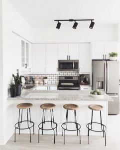 minimalist white space kitchen